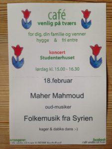 Koncert på Studenterhuset med oud-spilleren Maher Mahmoud @ Studenterhuset   Aalborg   Danmark